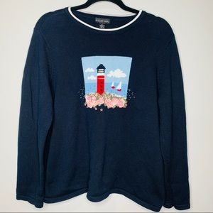 August Max Lighthouse Sweater Size 4